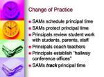 change of practice