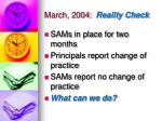 march 2004 reality check