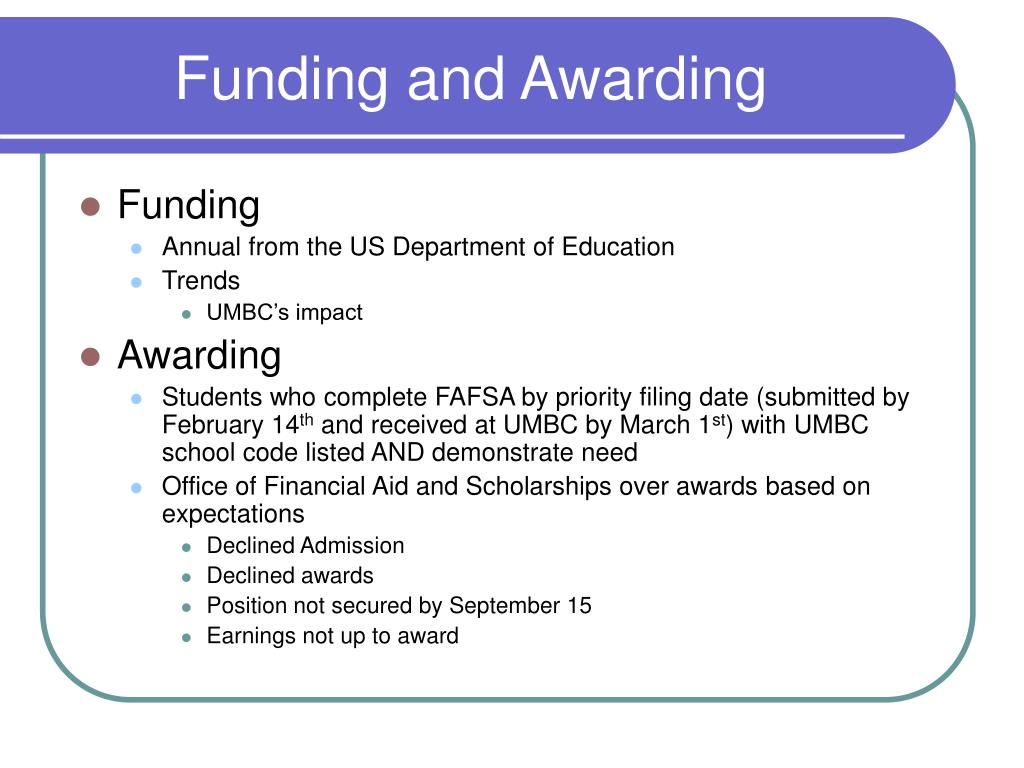 Funding and Awarding