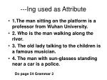 ing used as attribute19