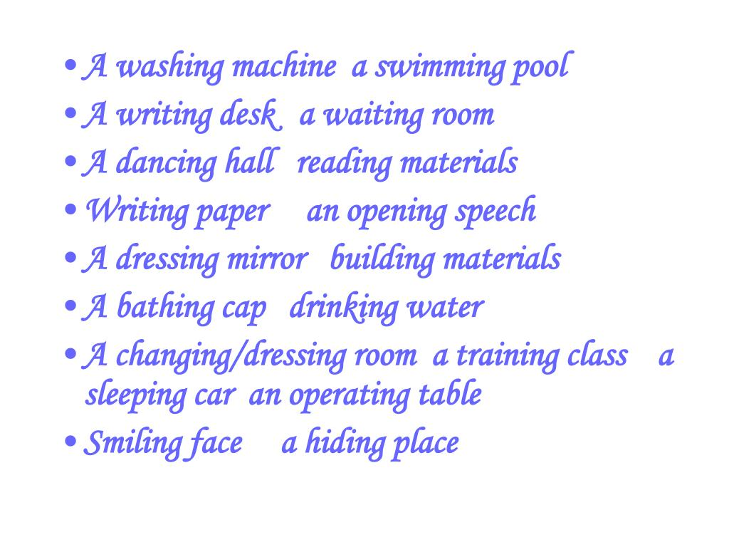 A washing machine  a swimming pool