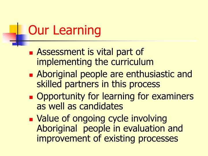 Our Learning