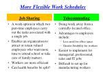 more flexible work schedules
