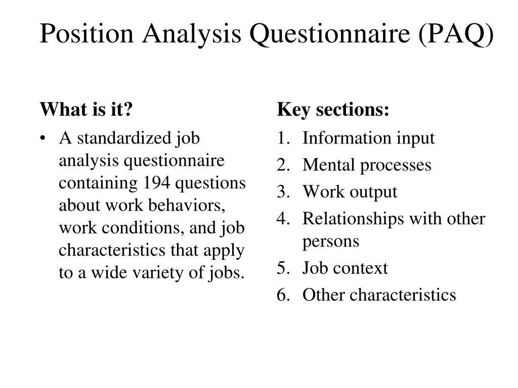 job character analysis