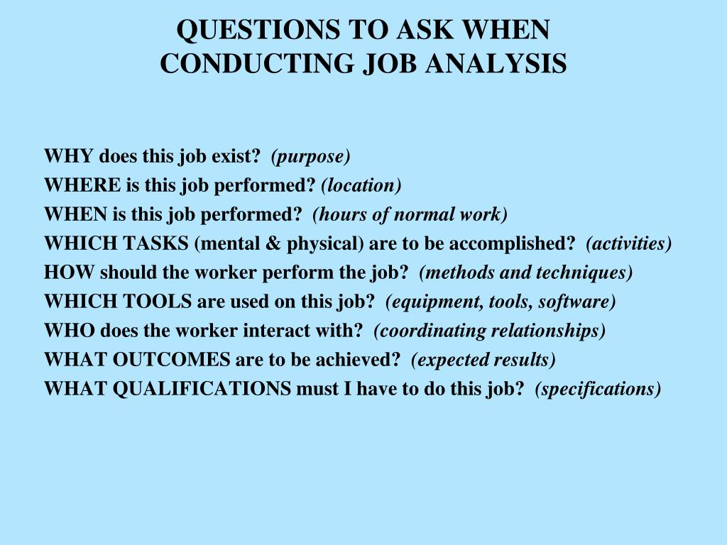 QUESTIONS TO ASK WHEN