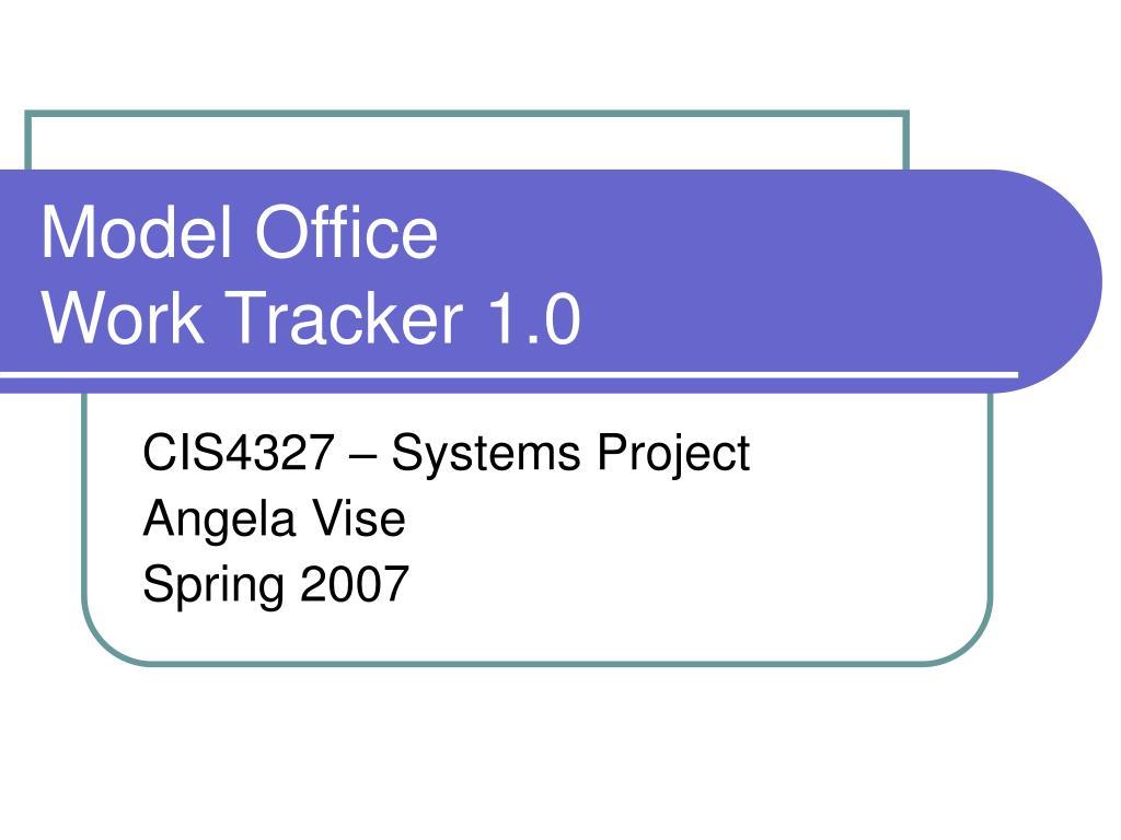 model office work tracker 1 0 l.