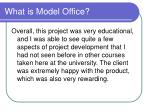 what is model office8