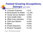 fastest growing occupations georgia per year