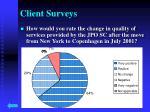 client surveys