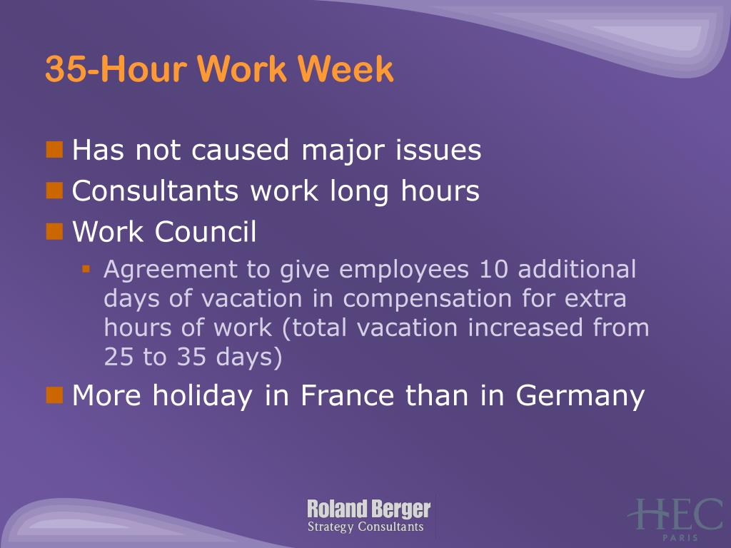 35-Hour Work Week