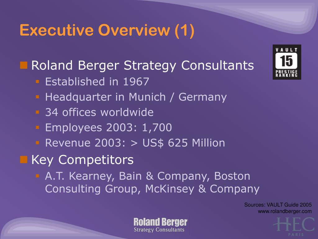 Executive Overview (1)