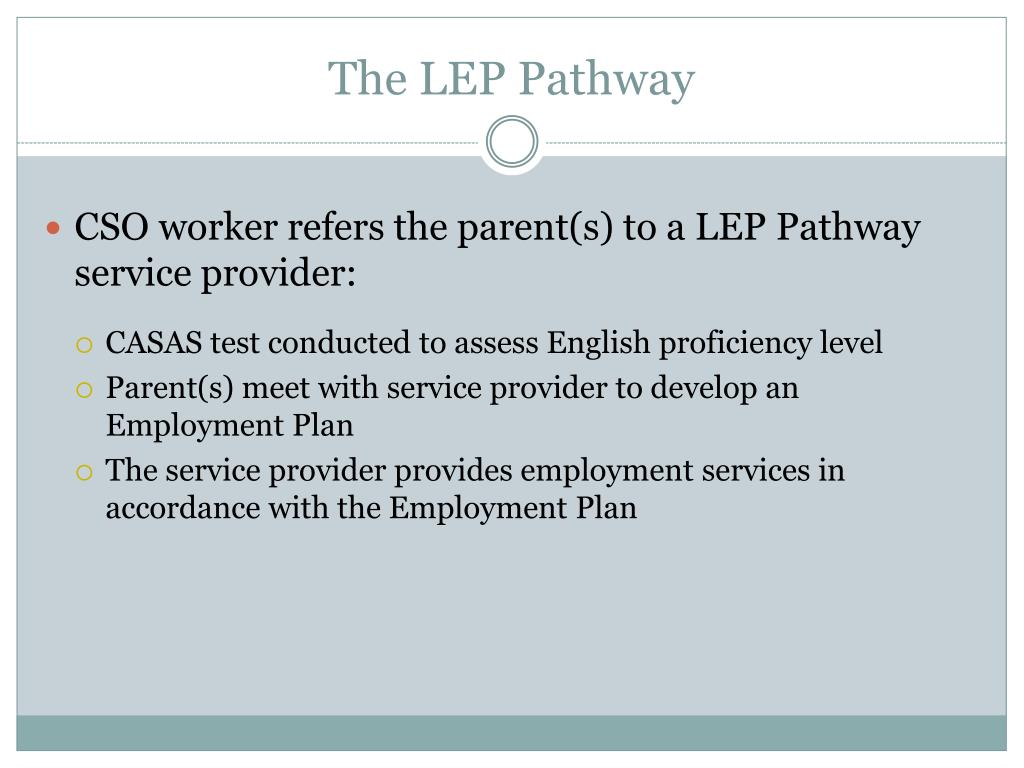 The LEP Pathway