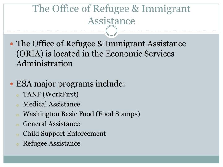 The office of refugee immigrant assistance
