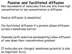 passive and facilitated diffusion