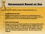 harassment based on sex