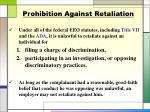 prohibition against retaliation