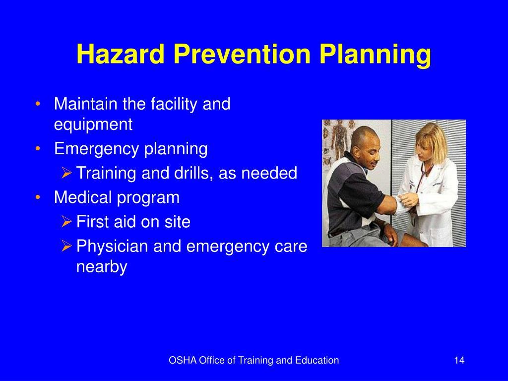 Hazard Prevention Planning