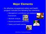 major elements