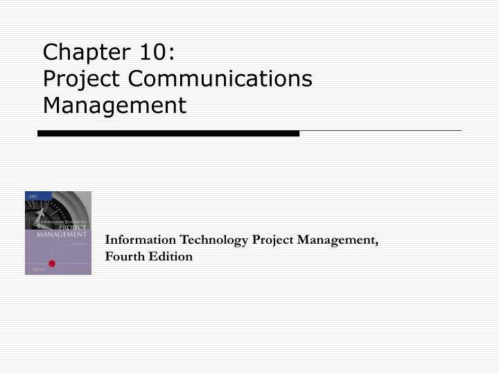 chapter 10 project communications management n.