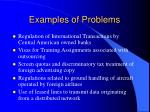 examples of problems