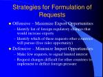 strategies for formulation of requests