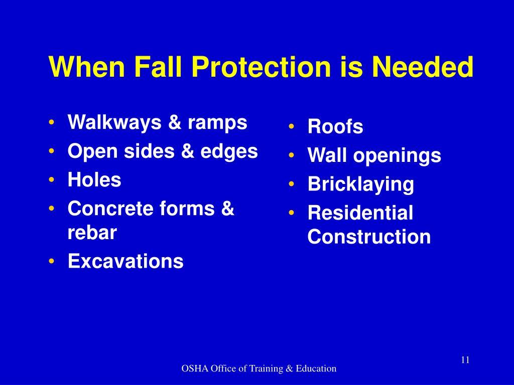 Walkways & ramps