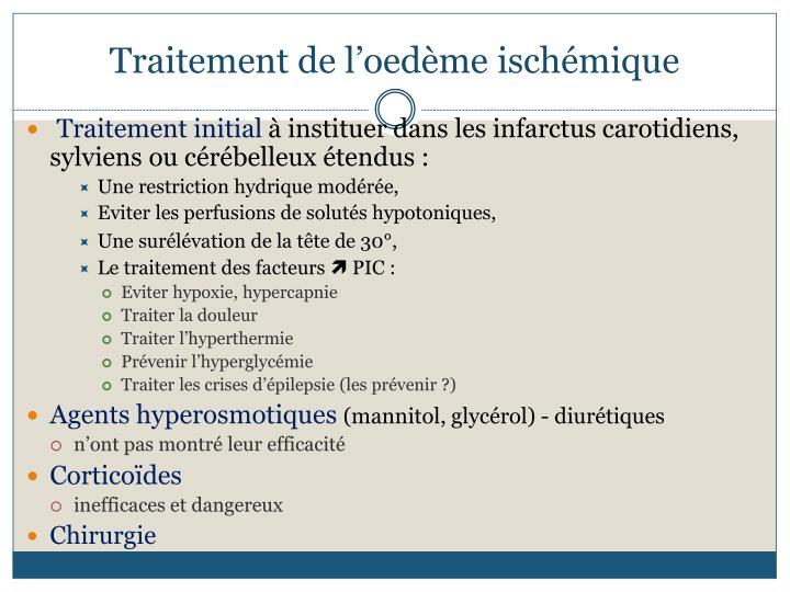 Traitement de l'oedème ischémique