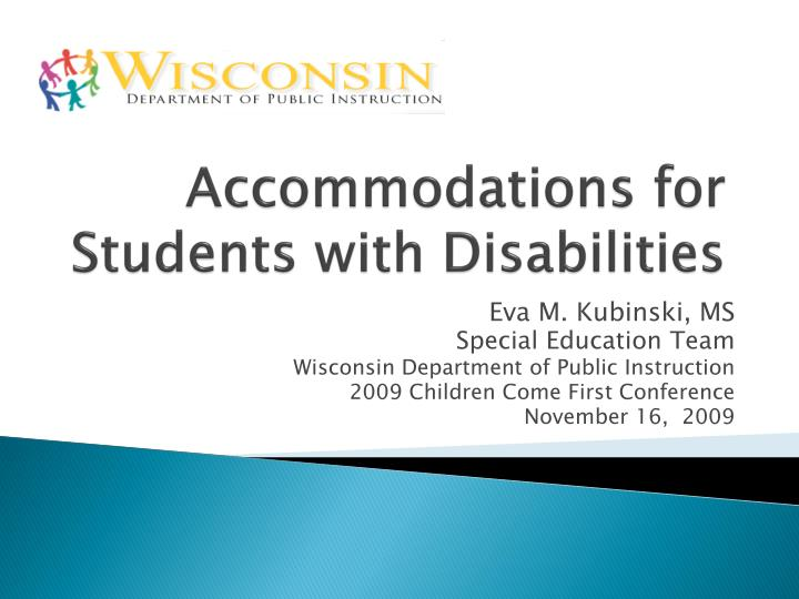 accommodations for students with disabilities n.