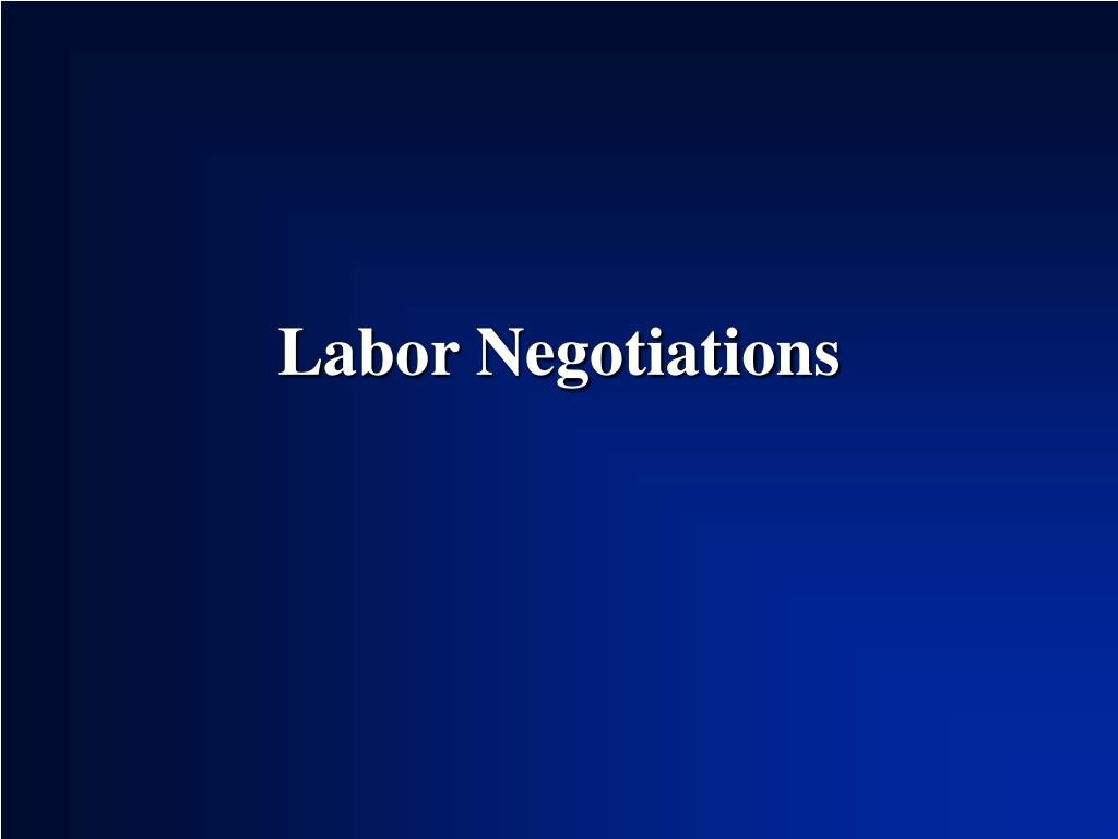 labor negotiations As the following points of win-win negotiation will demonstrate, ensuring that your counterpart is satisfied with a particular deal requires you to manage several aspects of the negotiation process, including his outcome expectations, his perceptions of your outcome, the comparisons he makes with others, and his overall negotiation experience.