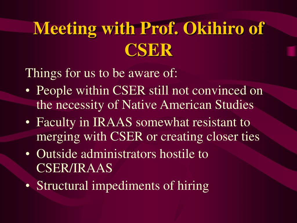 Meeting with Prof. Okihiro of CSER