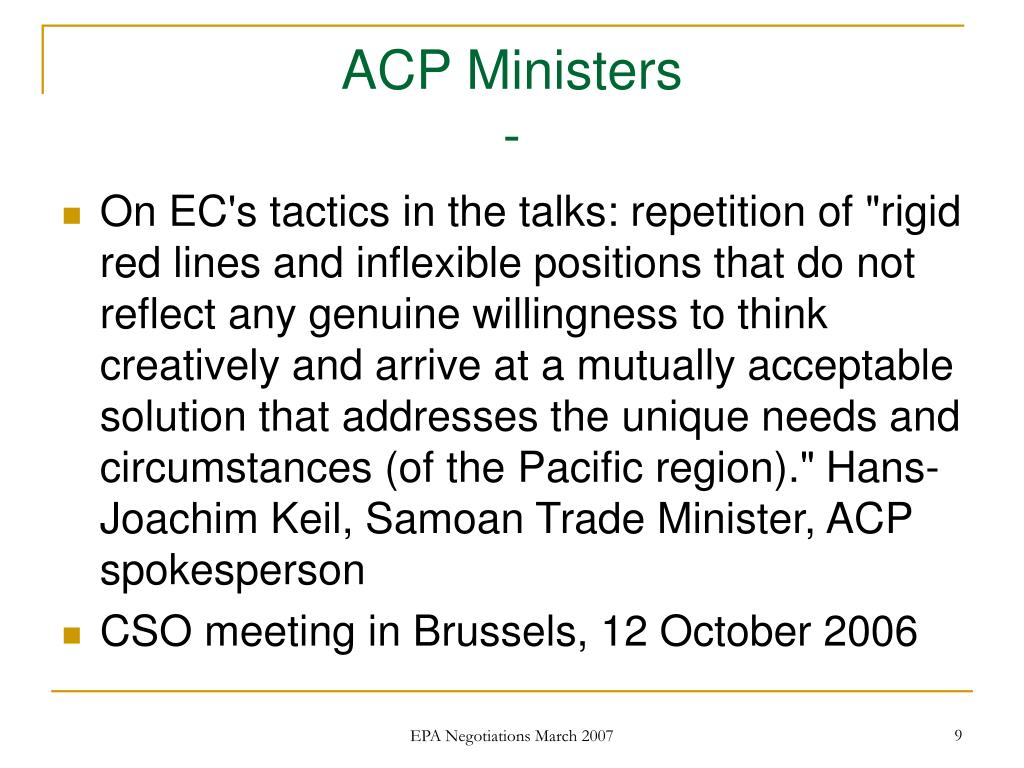 ACP Ministers