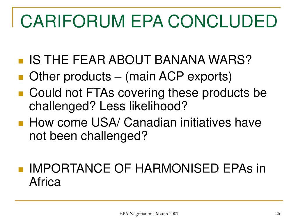 CARIFORUM EPA CONCLUDED