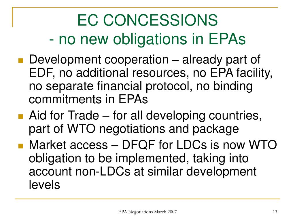 EC CONCESSIONS