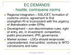 ec demands hostile contravene norms