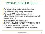 post december rules