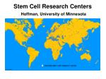 stem cell research centers hoffman university of minnesota