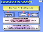 constructing the argument