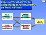 effects of visual and verbal components of advertisements on brand attitudes