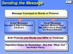 sending the message