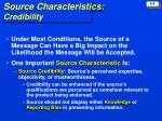 source characteristics credibility