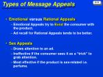 types of message appeals
