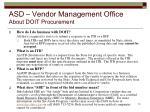 asd vendor management office about doit procurement