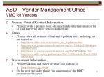 asd vendor management office vmo for vendors