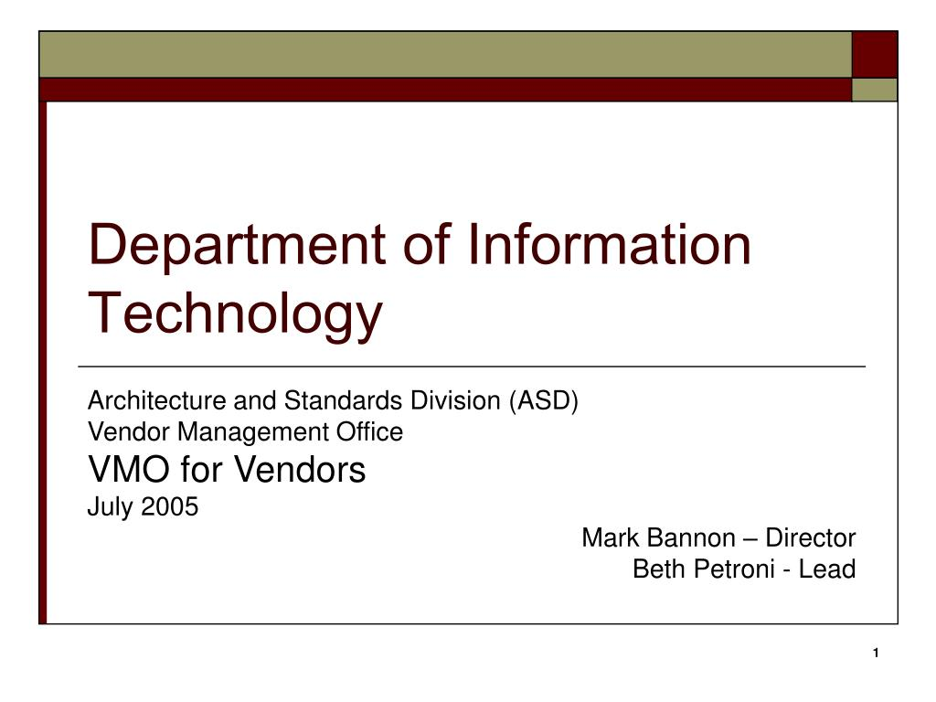 department of information technology l.