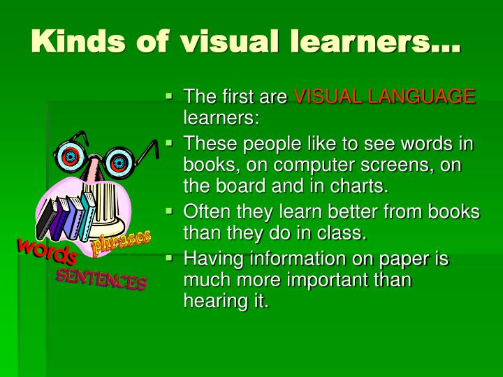 Kinds of visual learners