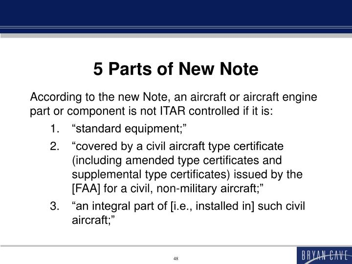 5 Parts of New Note
