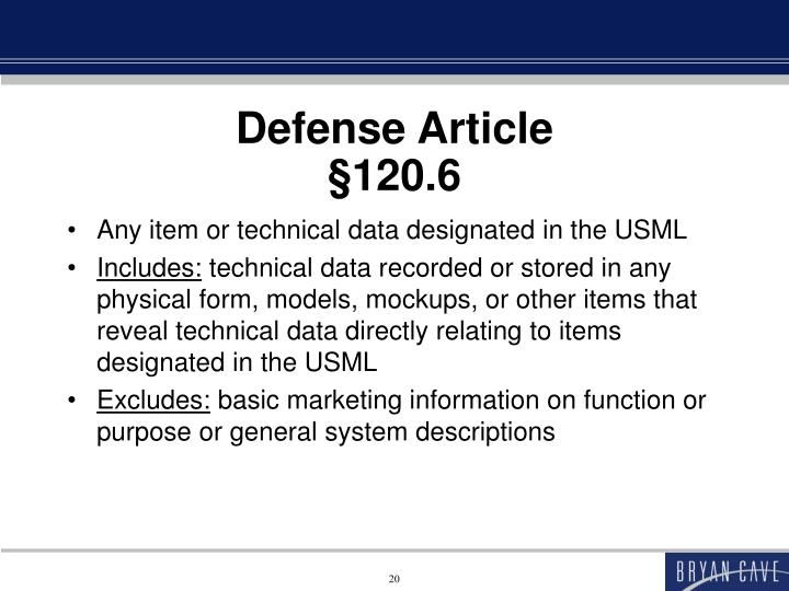 Defense Article
