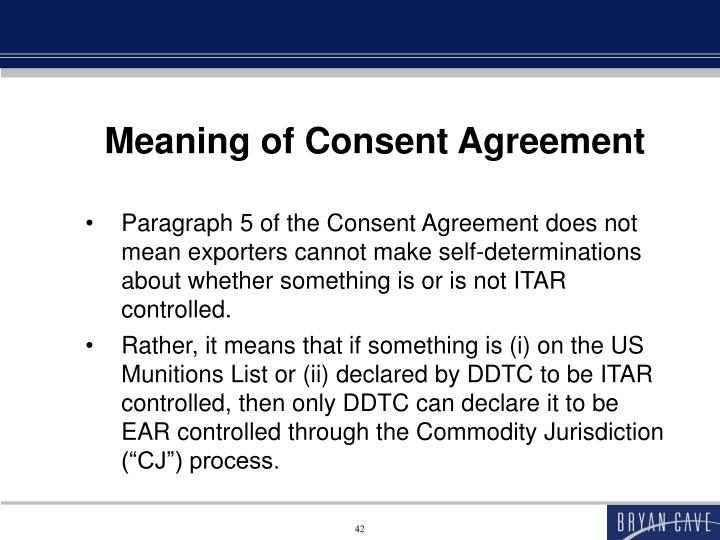 Meaning of Consent Agreement