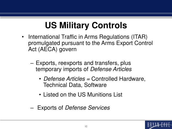 US Military Controls