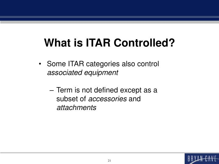 What is ITAR Controlled?